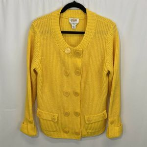 Women's Talbot Heavy Sweater Yellow Cardigan 1X